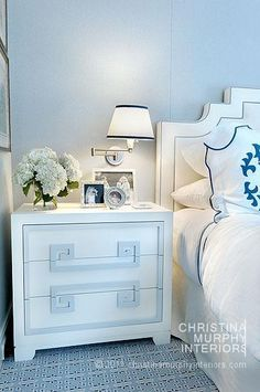 Christina Murphy Interiors - LOVE this wall color... it's very close to what is in my bedroom and one of the kids rooms!