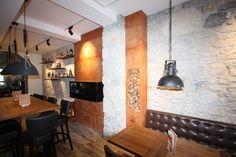 Restaurant Wandgestaltung Kunststein Lajas blanca