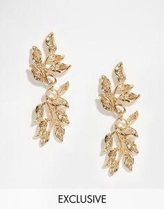 Designsix Leaf Drop Earrings