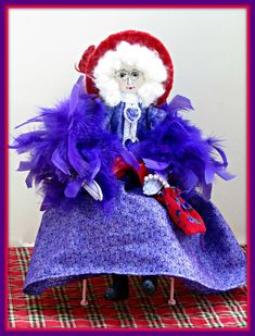 Gray Is Beautiful: Celia - Red Hat Society Art Doll Products and Designs