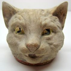 Rare Vintage White Halloween Cat - Bisque, Early 1900s |