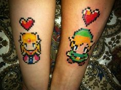 Link and Zelda tats.