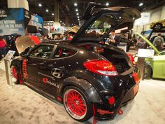 The 500+ hp 2016 Hyundai Blood Type Racing (BTR) Edition Veloster has a sinister body kit