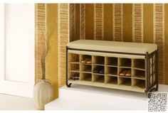 44. Oil #Rubbed Bronze #Bench with Shoe Cubbies - 44 Shoe #Racks Carrie #Bradshaw Would Be #Proud of ... → #Shoes #Storage
