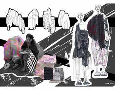 ARTS THREAD Portfolios - ARTS THREAD Fashion Illustration Portfolio, Fashion Portfolio Layout, Fashion Design Sketchbook, Portfolio Design, Sketchbook Layout, Textiles Sketchbook, Sketchbook Inspiration, Fashion Communication, Fashion Collage
