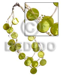 3 Rows Raffia In Graduated Length 21 Pcs. Round Lime Green Hammershell And Glass Beads Accent Shell Necklace Shell Jewelry, Shell Necklaces, Stone Jewelry, Fashion Accessories, Fashion Jewelry, Brown Lip, Gold Lips, Black Lips, Wood Necklace