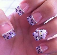 Cute Hello Kitty Nail Designs – Top 88 Designs Hello Kitty inspired nail art design in hot pink and white shades. The polka dot tips and the hello kitty Nail Art Designs, Latest Nail Designs, Purple Nail Designs, Acrylic Nail Designs, Acrylic Nails, Nails Design, Acrylic Art, So Nails, Fancy Nails