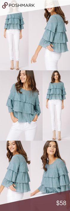 Soft Woven Textured Layered Top Soft Woven Textured Layered Top Order Ships Next Week No Trades Glamvault Tops