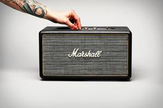 Get the classic look and sound of a Marshall amplifier and the connectivity of a modern speaker system with the Marshall Stanmore Speaker ($400)