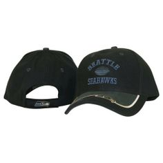 """Seattle Seahawks """"Logo Bill"""" Adjustable Hat by NFL. $15.99. Adjustable velcro strap in back. Officially Licensed NFL Apparel. One Size Fits Most. Kick off the NFL season with a new baseball hat in your favorite team. Classic styling, one size fits most. Officially licensed NFL apparel!"""