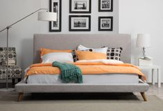 $600 or less wholesale + free shipping. EMFURN - Johnson Mid Century Queen Linen Bed