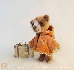 Samuel Livington By Iveta Rakova - Bear Pile Bunnies, Bears, Miniatures, Teddy Bear, Steel, Dolls, Fabric, Animals, Baby Dolls
