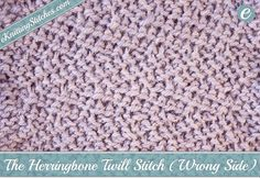 The Herringbone Twill stitch uses a series of moving slip stitches to generate a…