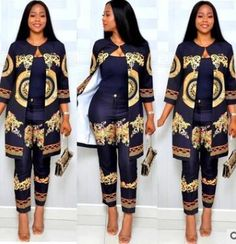 Two Piece African Women's Suit