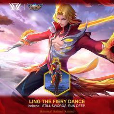 Ling Fiery Dance - Mobile Legends by efforfake on DeviantArt Mobile Wallpaper Android, Mobile Legend Wallpaper, 3 Mobile, Video Game Companies, Online Battle, Mobile Legends, True Colors, Art Gallery, Princess Zelda
