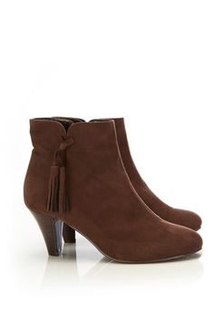 Brown Tassle Ankle Boot - Shoes