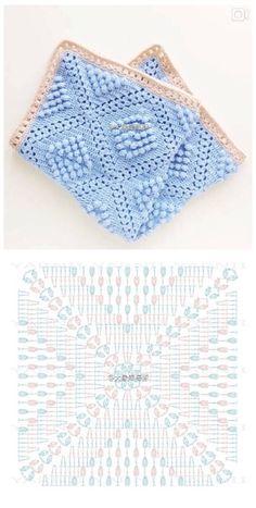 钩织 图解❤️毯子