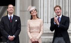 Kate, Prince William & Harry at The Queen's Diamond Jubilee procession.. 5/6/12.