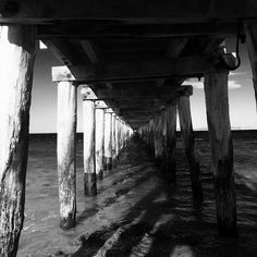 Point Lonsdale Pier. Nice to get away for a few days for staff retreat #pointlonsdale #underthepier #blackandwhite #coast #spring by markholmes_90 http://ift.tt/1EBJopQ