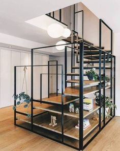 Cool design for stairs and storage