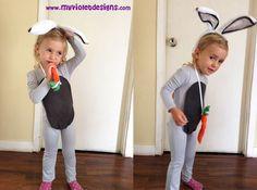 Disfraz de conejo gris largo. myvioletdesigns.com
