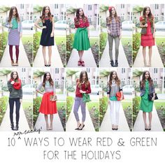 10 Non-Tacky Ways to Wear Red and Green Together During The Holidays!
