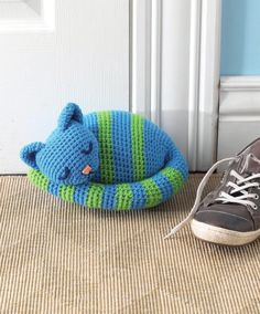 ISSUU - Crochet at home by Irini Fotiadi...sleepy kitty crochet doorstop.. Free pattern!...This comes from a free book!