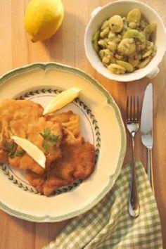 Wiener Schnitzel mit steirischem Kartoffel-Gurken-Salat á la Johann Lafer Rezept