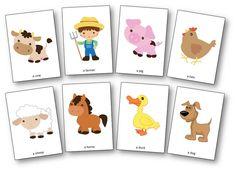 "Flashcards des personnages de la chanson ""Old MacDonald Had a Farm"" Zoo Animal Coloring Pages, Abc Coloring Pages, Preschool Coloring Pages, Preschool Worksheets, Farm Animals For Kids, Farm Animals Preschool, Farm Nursery, Kids Nursery Rhymes, Farm Songs"