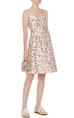 Cotton Silk Floral Cross Back Dress by MOTHER OF PEARL Now Available on Moda Operandi