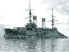 """Battleship """"Orel (Oryol)"""" (Russian: Орёл) was a Borodino-class battleship built for the Russian Imperial Navy in the first decade of the 20th century. Oryol was badly damaged during the Battle of Tsushima in May 1905 and surrendered to the Japanese who put her into service under the name of Iwami (Japanese: 石見)."""