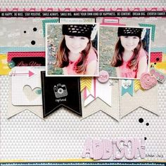 Bella Blvd Snapshots collection. Addison sketch layout by DT member Nicole Nowosad