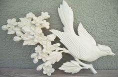 Vintage White Bird W