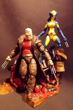 All New Wolverine w unmasked head and alt hands (Marvel Legends) Custom Action Figure