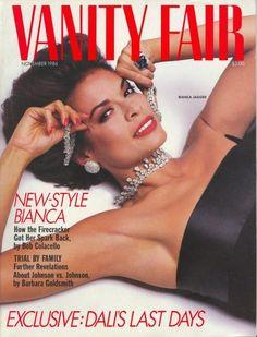 Cover of Vanity Fair magazine 1986: Bianca Jagger
