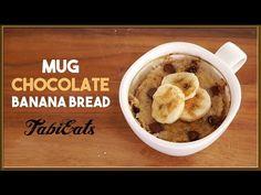 MUG CAKE-Chocolate Banana Bread 【三拍子!】簡単・ジャストサイズ・美味しい マグカップ・チョコレートバナナブレッド!