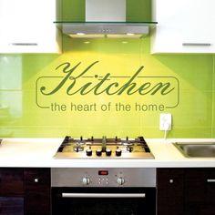 """Adesivo Murale - Kitchen.  Adesivo murale di alta qualità con pellicola opaca di facile installazione. Lo sticker si può applicare su qualsiasi superficie liscia: muro, vetro, legno e plastica.  L'adesivo murale """"Kitchen"""" è ideale per decorare la vostra cucina. Adesivi Murali."""