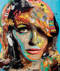 "Artist : Arnaud Bauville ""L'ÉLUE"", 100 x 120 cm (39,4 inches x 47,2 inches )"