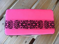 pink and black baby wipe case with demask by Yuliyasboutique, $8.00