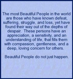 [Inspirational Quote]  Beautiful People do not just happen.  www.pin2inspire.com