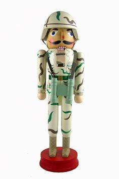 14 Camouflaged United States Army Soldier Christmas Nutcracker for only $19.99 You save: $5.00 (20%) #lionofwar