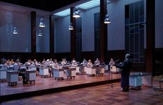 L'incoronazione di Poppea from Teatro Real Madrid. Production by Krzysztof Warlikowski. Sets and costumes by Malgorzata Szczesniak.
