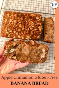 An easy gluten-free banana bread recipe with a twist for fall: apple cinnamon banana bread! This doughy sweet bread is perfect for an easy breakfast, healthy snack, or healthy dessert. It's gluten-free, but you honestly can't even tell, it's so decadent! #glutenfreerecipes #glutenfreerecipe #healthybaking Cinnamon Banana Bread, Banana Walnut Bread, Apple Cinnamon, Banana Bread Recipes, Apple Recipes, Fall Recipes, Easy Baking Recipes, Healthy Baking, Easy Healthy Recipes