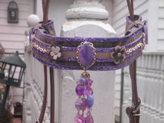 Horse Bridle Brow Band Covers Purple Passion by Fancihorse on Etsy, $40.00