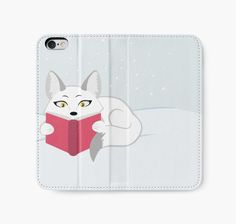 Reading Fox Iphone Wallet Case #fox #foxes #book #animals #reading