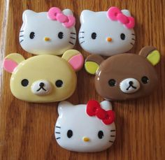 This is a listing for (1) YOU choose Cabochon Id Badge Reel Holder to be handmade by me, EvezBeadz.  You may choose from Hello Kitty Pink, Red or Light Pink Bow Rilakkuma Creme or Brown (thickest cabo