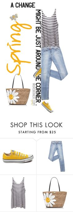 """Today's Forecast: Sunny With A High Of 88"" by idocoffee ❤ liked on Polyvore featuring Behance, Converse, T By Alexander Wang, Kate Spade and Bling Jewelry"
