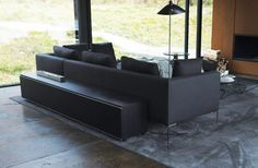 A close up of the B&B Italia Charles sofa, from Wayne's lake house in Batman v Superman. Make it yours at http://www.filmandfurniture.com