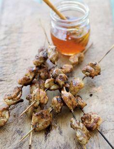 Chicken Yakitori with Honey Sauce