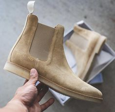 Chelsea boots in sand